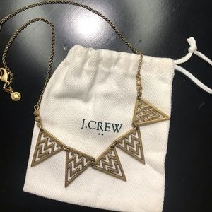 J Crew Golden Triangle Necklace